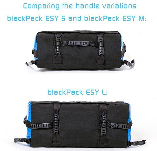 Comparing the handle variations of the blackPack ESY